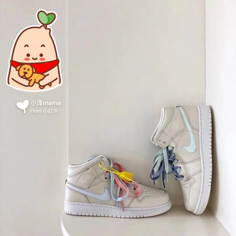 1NIKE AJ1 粉蓝鸳鸯鞋