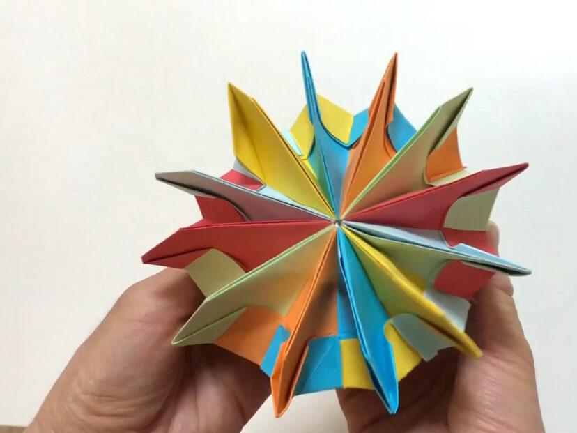 手工折纸 五彩缤纷折纸烟花翻花教程 简单易学哦