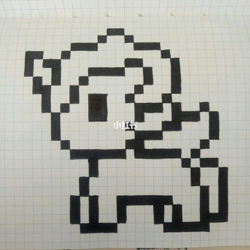 最近喜欢上了格子画 像素画