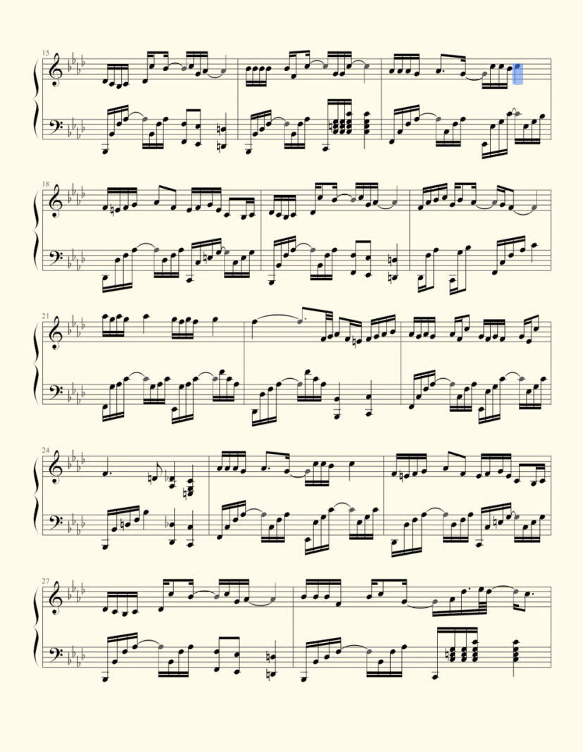 消愁 钢琴谱
