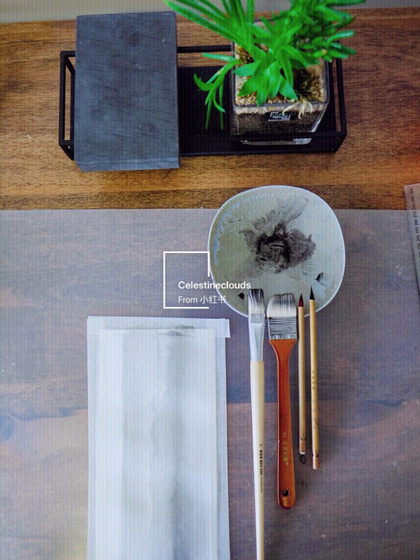 手绘锦鲤水彩画古风水墨画 鱼教程步骤图片