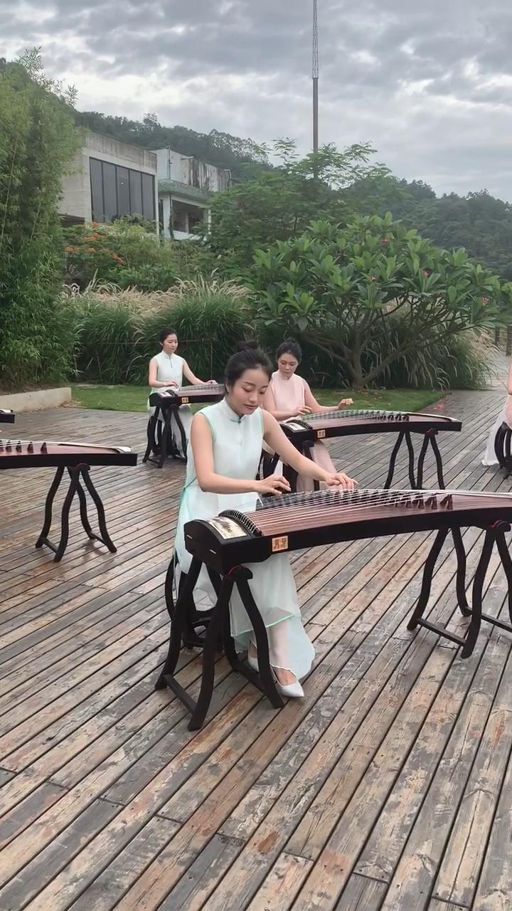 非常喜歡的一小段!節奏很帶勁!#采薇 #古筝