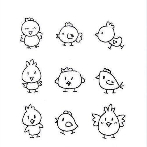 一波简单又可爱的动物简笔画,Get