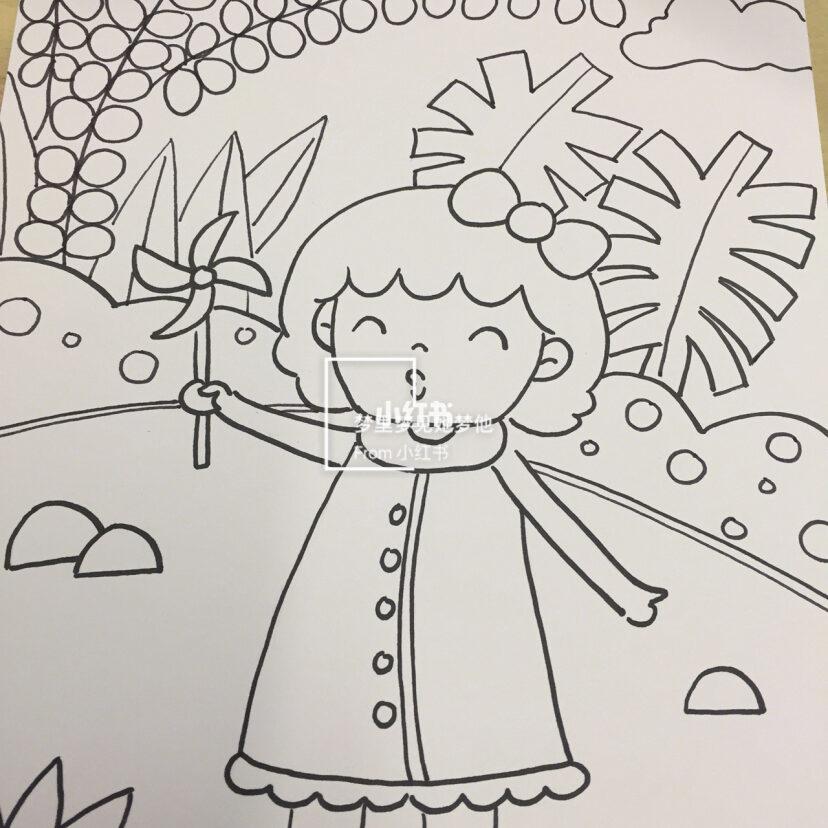创意儿童画 简笔画 幼儿园画 马克笔画