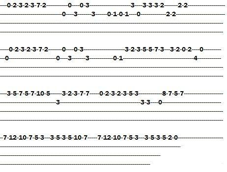 尤克里里四线谱简单版