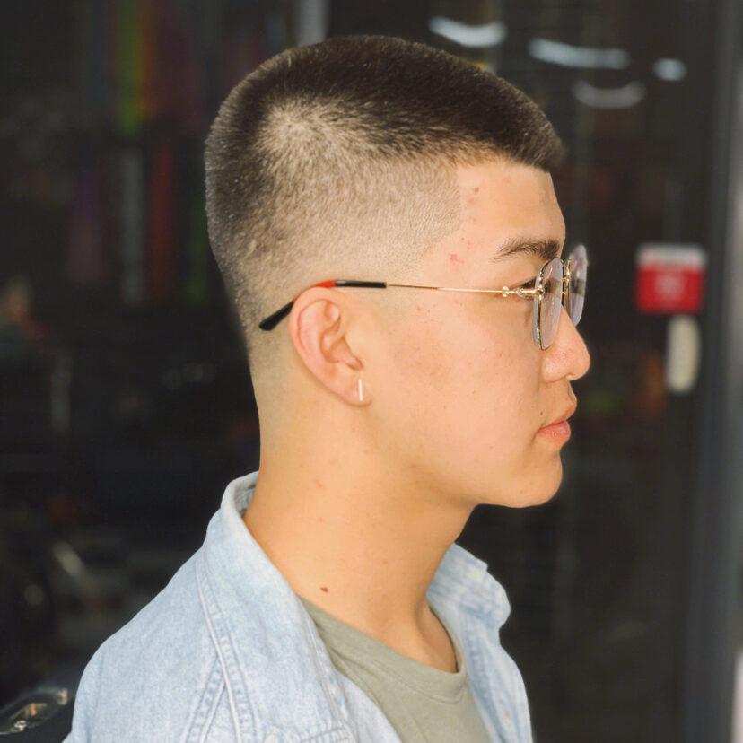 美式圆寸 男士理发 黑人发型 雕刻