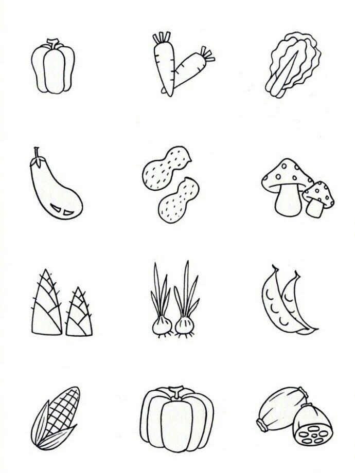 可爱食物简笔画 手帐素材