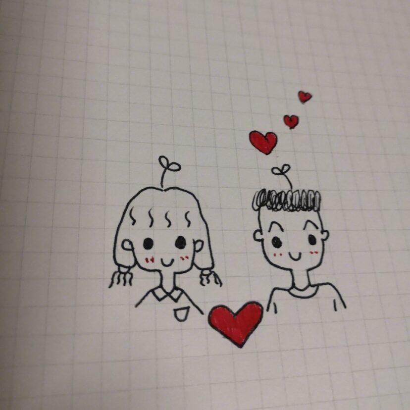 小男孩小女孩简笔画情侣简笔画