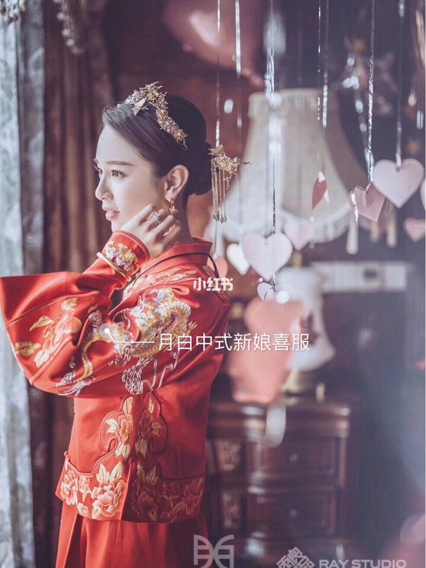 中式嫁衣图片不带人的