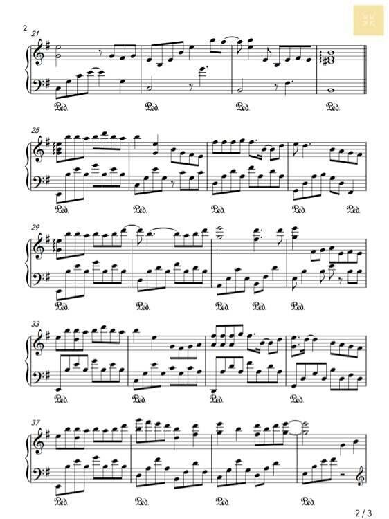 凉凉 钢琴谱五线谱分享