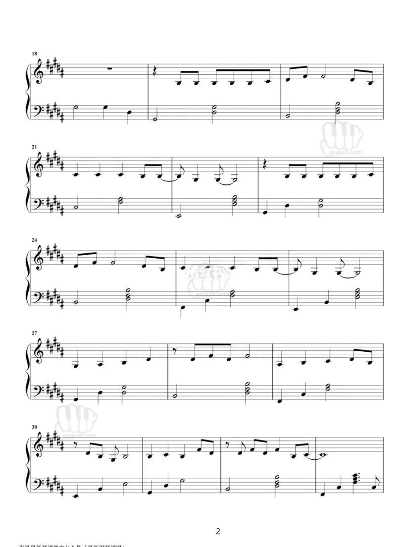 生僻字 五线谱 原创钢琴谱