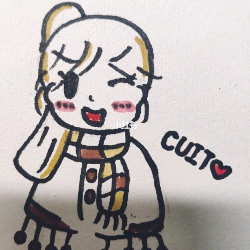 最近超火的小女孩头像简笔画