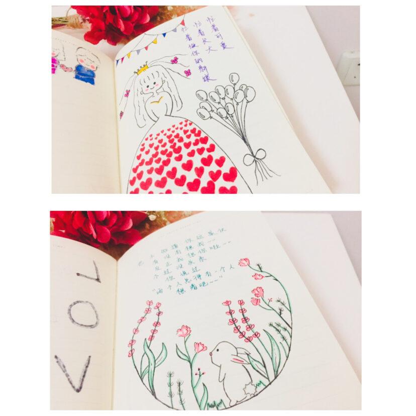 手绘本 简笔画 送给男朋友的2周年礼物?? 异地恋礼物