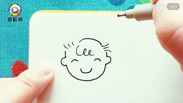 12种男生头像简笔画,3分钟get一个手绘新技能