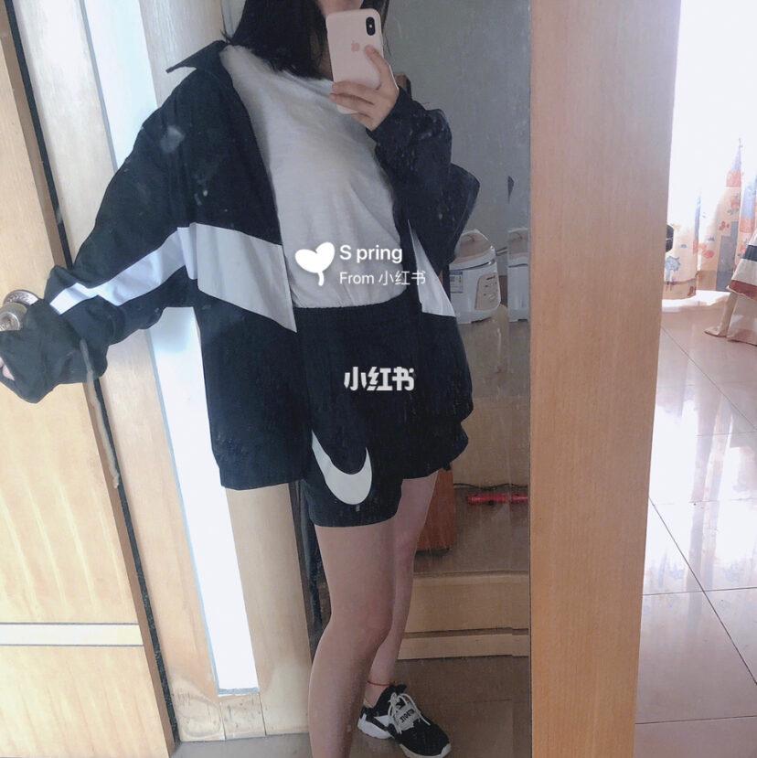 每日穿搭 nike大勾外套 Nike短裤 N鞋