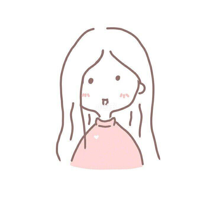 ins简笔画小女孩 附情侣图??