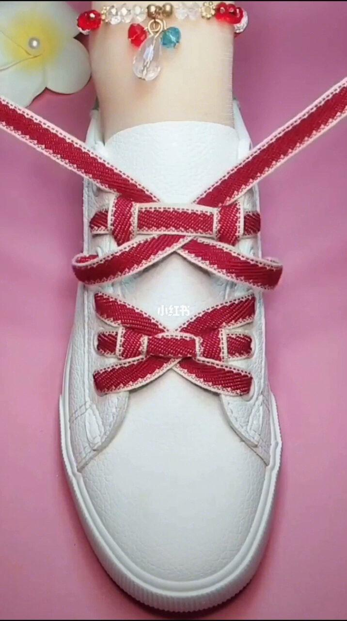 抖音看到的蝴蝶结系鞋带方法 ??????