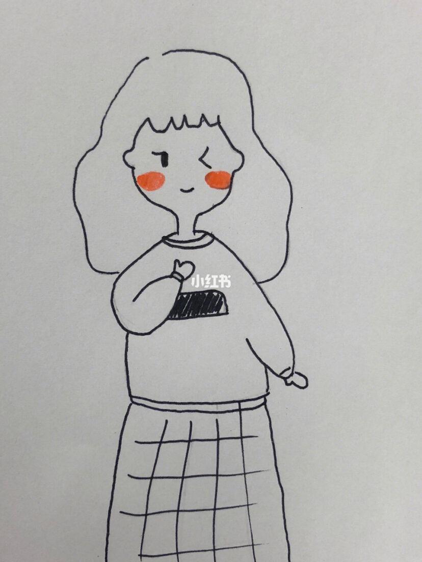 可爱的小女孩简笔画~简单易学~