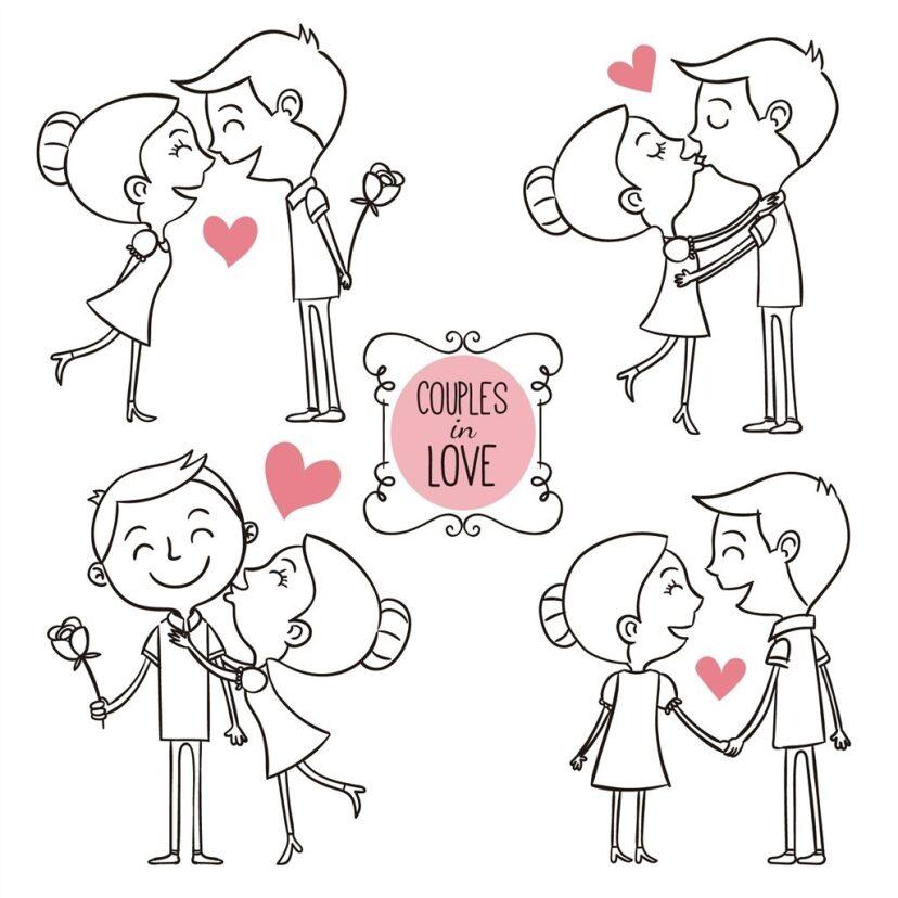 分享一波超可爱的情侣简笔画