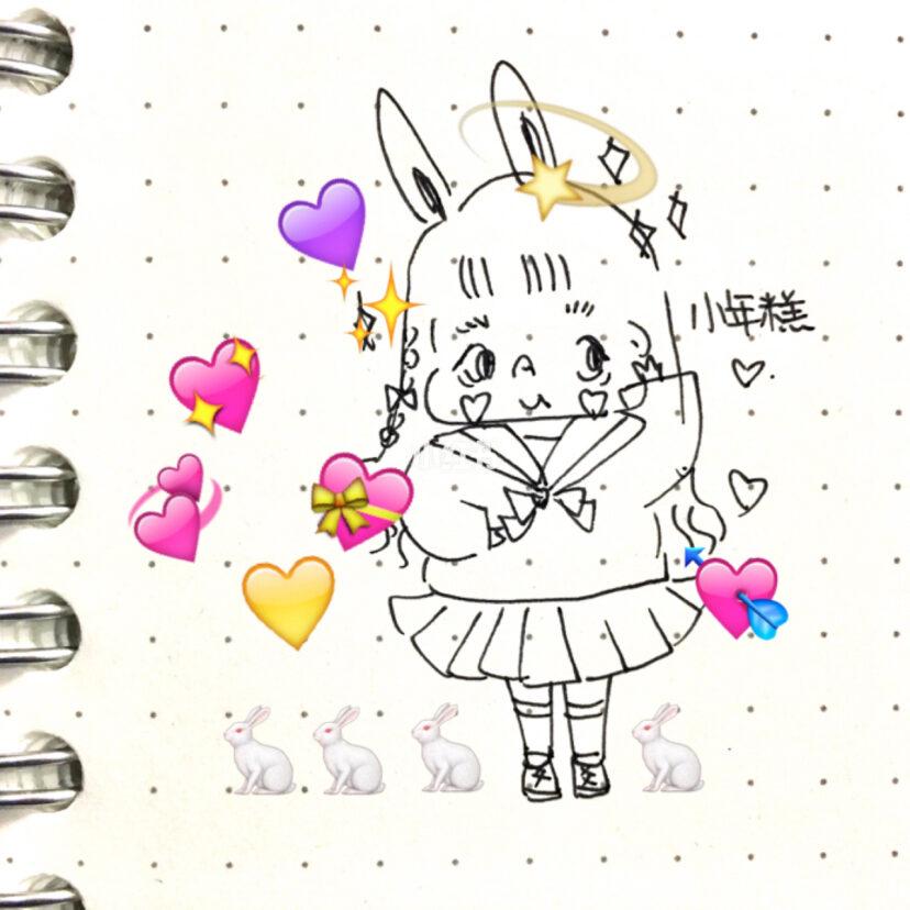 少女手绘简笔画教程参考
