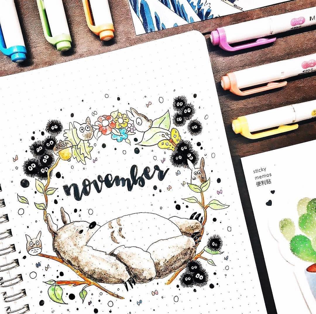 手账 你好!十一月!超美的手帐月初页 ,手帐工具