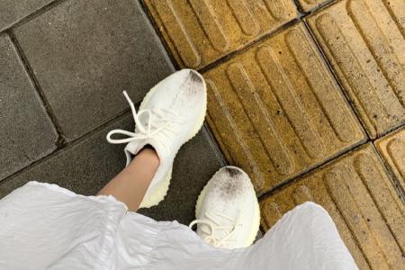 Yeezy350 V2冰淇淋椰子球鞋清洗 保养方法_鞋子_阿迪达斯怎么样_氧化_保养_冰淇淋_球鞋_牙膏_长城_dbrukia怎么样_纳美怎么样_牙刷_鞋控の日常_时尚_鞋靴